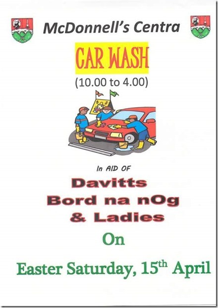 Car Wash Easter Saturday